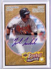 2008 Upper Deck Heroes Tan 14 Nick Markakis autograph 04/25 Orioles auto