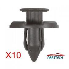 x10 fits for Nissan 8mm Plastic Rivet Trim Clips for Bumpers Splashguards