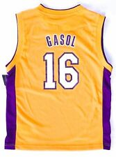 7ae0ce4d2 LA Los Angeles Lakers  16 Pau Gasol NBA Basketball Jersey Medium M Youth