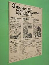 PUBLICITE - LOMBARD - MICHEL VAILLANT RIC HOCHET DAN COOPER - NOUVEAUTES  ( B4 )