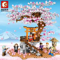 Sembo Blocks Girls Building Toys Sakura Puzzle With Lighting 601076 no box