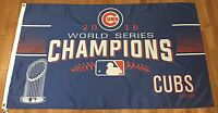MLB CHICAGO CUBS WORLD SERIES CHAMPIONS 2016 FLAG 3' x 5' WITH GROMMETS - GR15