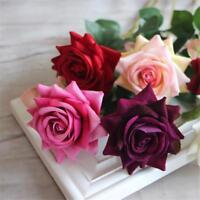 New Rose Gefälschte Seide Blumen Blatt Künstliche Startseite Hochzeit Dekor~