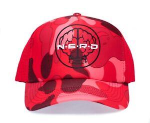 NERD Pink/Camo Trucker Hat Neptunes N*E*R*D Cap N.E.R.D.