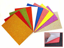 10 Pack A4 Glitter Foam Eva Craft  Sheets SELF ADHESIVE Assorted Colours