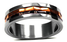 Spinner Ring  18 k gold Stainless Steel size 12   FATHER'S DAY