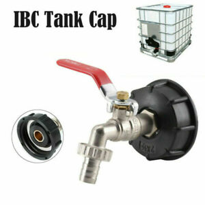 """1X IBC Tank Adapter S60X6 To Brass Drain Tap with 1/2"""" Hose Fittings Water Fuel"""