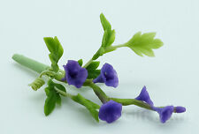 Clay Miniature Handmade Purple Morning Glory Flower - F-Morning Glory012