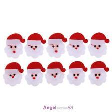 10pcs Santa Claus Christmas Shape Patch Padded Felt Appliques Accessories #A