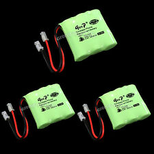 3 PCS Cordless Phone Replacement Battery 404 3.6V 300mAh 2/3AAA Ni-MH