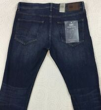 G-STAR RAW 3301 Deconstructed Blue Jeans 36x34 36 34 Slim Straight NWT $130 New