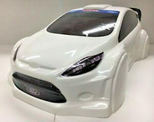 Fiesta WR8 HPI FLUX 1:8 Reproduction White ABS body shell Kamtec Ken Block RC