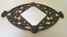 Mirror Wall Iron Forge Fruits And Flowers Embossed Art Deco