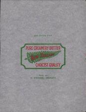 'PURE CREAMERY' Swansea. New Zealand Vintage Butter Wrapper.  K3.156