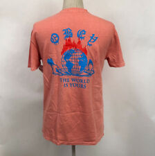 OBEY Men's Pigment T-shirt The World Is Yours Coral Size L Shepard Fairey