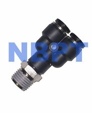 Pneumatic Y Branch Male 8 mm Tube-R3/8,NBPT One Touch Fitting Fitting 5