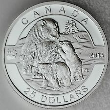 Canada 2013 $25 Polar Bear 1 oz. 99.99% Pure Silver Proof Commemorative Coin