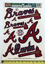 "Atlanta Braves 11.75"" x 17"" Window Clings Decal Vintage 1996 Champion Series"