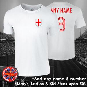 England Personalised Football T-shirt Mens Ladies Kids Euros