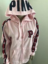 17822160e6f Victoria s Secret Pink Bling Full Zip Hoodie Soft Begonia Large