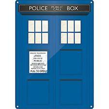 Doctor Who Tardis Metal Sign. Home Decor Gift Vintage Sci-Fi TV Bedroom