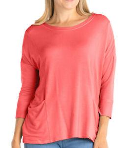 FRESH PRODUCE USA S XS 65$ Vibrant Poppy Diana Boxy French Terry Sweat Shirt Top