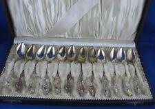 12x Löffel Kaffeelöffel Jugendstil wunderschön gearbeitet 800er Silber
