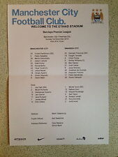 MAN CITY V SWANSEA CITY 01.12.2013 ** OFFICIAL TEAMSHEET **
