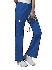 Cherokee Womens Workwear Scrub MidRise Drawstring Cargo Pant 4044 ROYAL  XL TALL