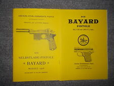 2 descrizioni pistola Bayard modello 1908 kal.9mm & Bayard kal.7, 65 & 9mm corto
