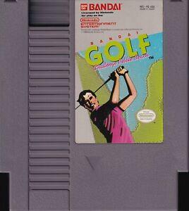 BANDAI GOLF: CHALLENGE PEBBLE BEACH (1989) nes nintendo us NTSC USA IMPORT