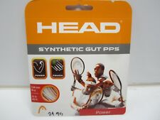 **NEW** LOT OF 4 SETS HEAD SYNTHETIC GUT PPS 16 (1.30) WHITE TENNIS STRING