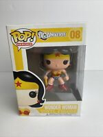 Funko Pop! Heroes DC Universe  #08 Wonder Woman Vinyl Figure Yellow Box