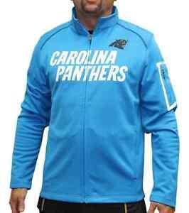 "Carolina Panthers Majestic NFL ""Teamwork"" Men's Full Zip Mock Neck Sweatshirt"