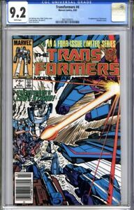 TRANSFORMERS #4 CGC 9.2 (1st appearance Shockwave)