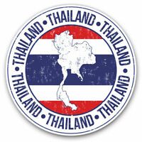2 x Vinyl Stickers 7.5cm - Thailand Map Bangkok Travel Asia Cool Gift #5165
