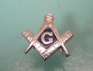 -Masons Sterling Silver Vintage ANSON Tie Tack Lapel Pin shriner scottish rite