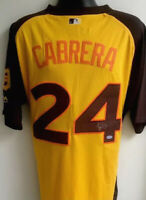 Miguel Cabrera Detroit Tigers 2016 All Star Autographed Signed Jersey USASM COA