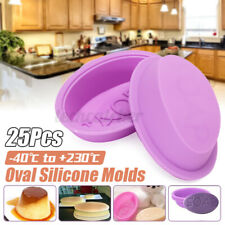 USA 25Pcs Soap Molds Silicone Handmade Soap Mold Baking Cupcake Liners DIY  CR!