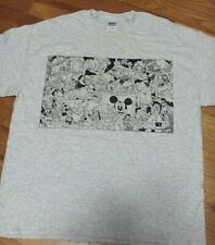 """""""DISNEY ORGY"""" T-Shirt/Giant print from the """"Realist""""(16""""x10"""") on ash-gray cotton"""