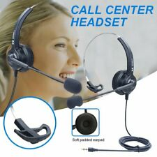 3.5mm Wired Computer Headset Service Call Center PC Laptop Headphones Earphone