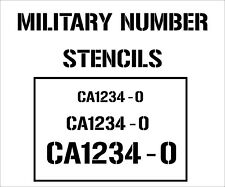 zap number custom stencil A4 military army navy airforce