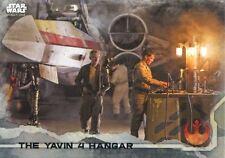 Star Wars Rogue One Gray Parallel Base Card #36 The Yavin 4 Hangar