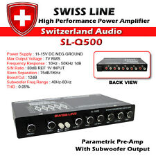 Swiss Line SL-Q500 5 Band Parametric Equalizer PreAmplifier for Car Amplifier