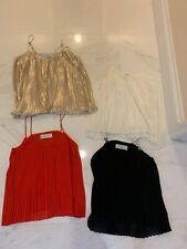 Gently Used Lot Of 4 Abercrombie & Fitch Pleated Tanks Size Xs