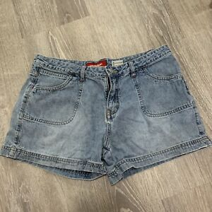 Union Bay Juniors Denim Jean Shorts Sz 11 Blue Washed Out Cargo Casual TP64