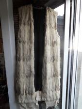 Ancien long gilet veste sans manche en peau poil de lapin deco 70's !!