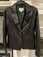 Worthington Women's Genuine Lambskin Leather Jacket, Black Size Medium. In EUC.