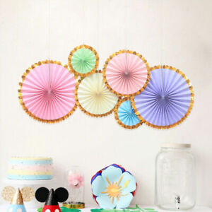 Pastel Unicorn Themed Party Macarons Colours HAPPY BIRTHDAY Banner Fans Garlands