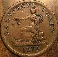 1820 LOWER CANADA TIFFIN HALF PENNY TOKEN COIN